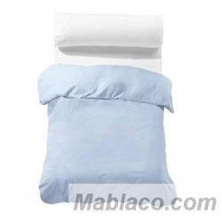 Fundas nórdicas lisas 100% algodón azul