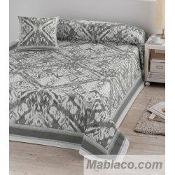 Colcha Foulard para sofá y cama Étnico Gris