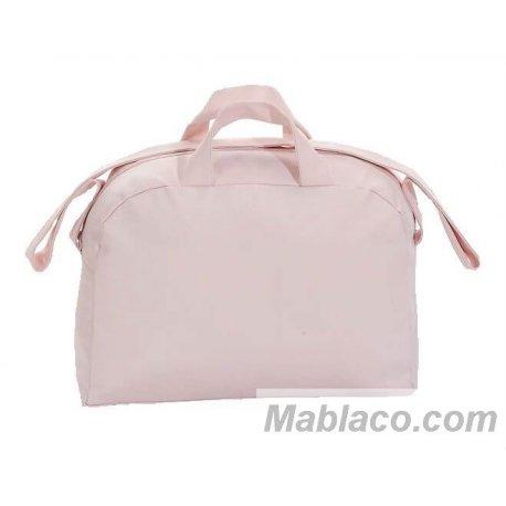 Bolso Maternal Plastificado Charol Rosa Interbaby - cara