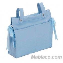 Bolso Talega Polipiel y Cambiador Azul Interbaby