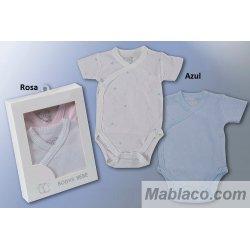 Body Bebé cuello cruzado pack 2 ud