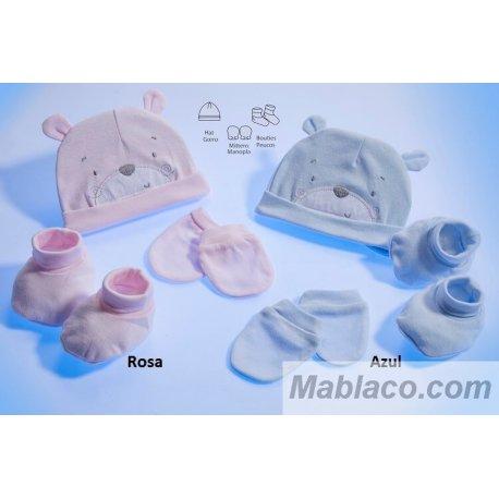 Ropa primera puesta Bebé 3 piezas Osito