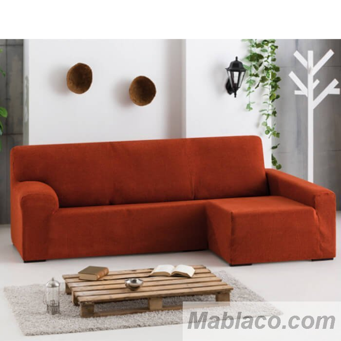 Funda de sof chaise longue apoyabrazos largo biel stica dorian - Fundas de sofa con chaise longue ...