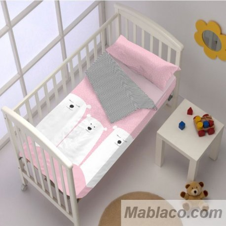 Saco Nórdico Bebé Family Oso Rosa