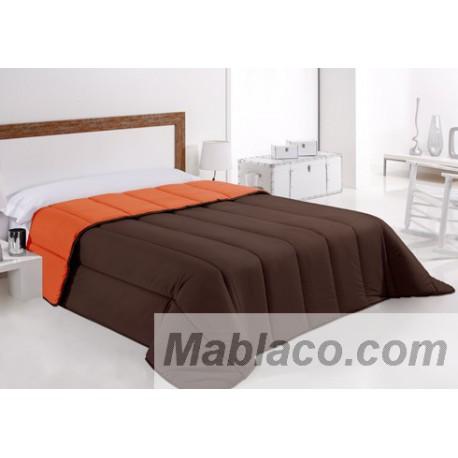 Rellenos nordicos bicolor marron y naranja edredones bicolor Relleno nordico cama 180