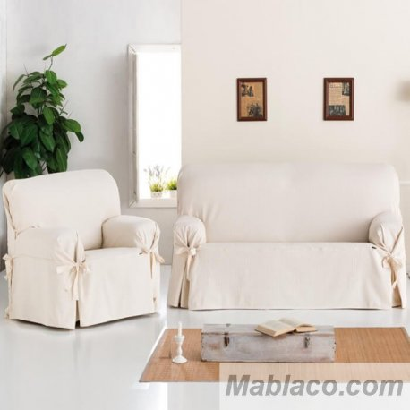 Fundas sofá Lazos Universal Bianca