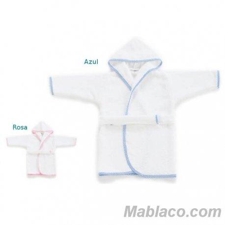 Albornoz Bebe y Niño Blanco con Ribete
