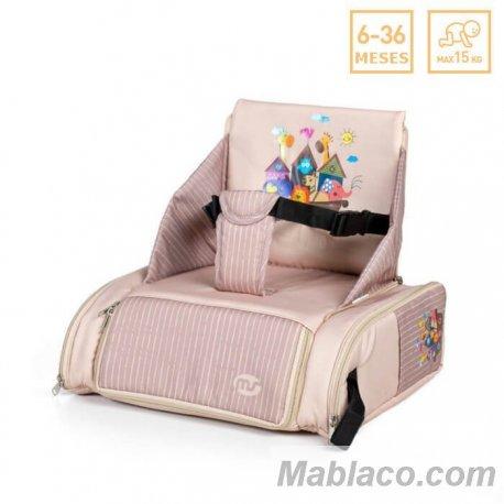 Trona de Viaje Booster Bag Beig