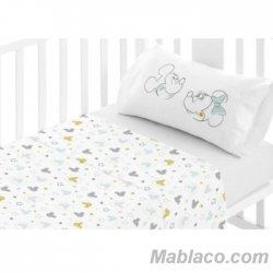 Juego Sábanas Bebé Disney Mickey Mouse 9 100% Algodón