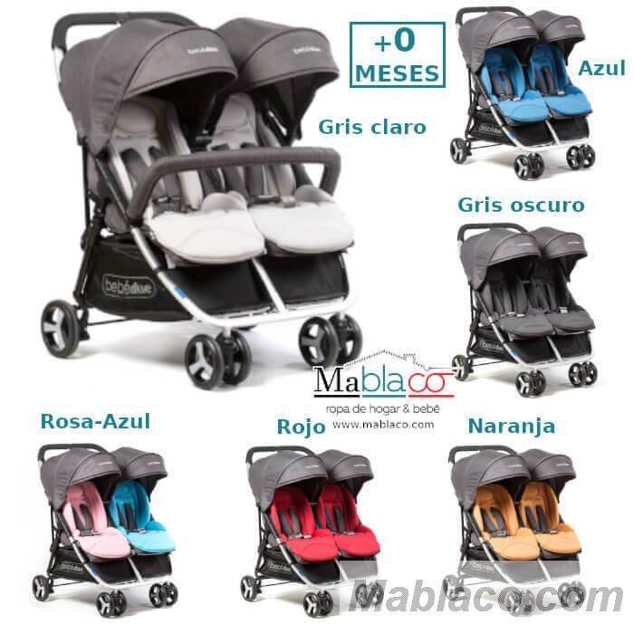 Silla de Paseo Gemelar BebéDue Dual | Carro Gemelar