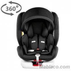 Silla coche Grupo 0 1 2 3 Discover Giratoria 360º Dual MS Negro