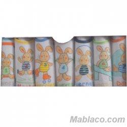 Baberos Bebé Semanario pack 7
