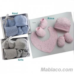 Conjunto Primera puesta bebé 4 piezas Estrellitas