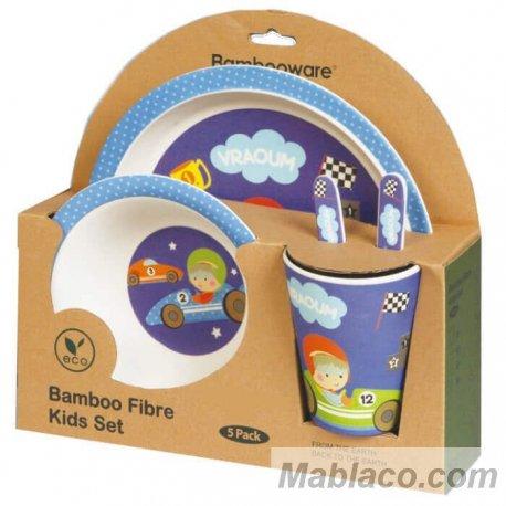Vajilla Infantil Bambú Coche