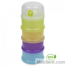 Dosificador leche en polvo bebé 4 Botes Torre