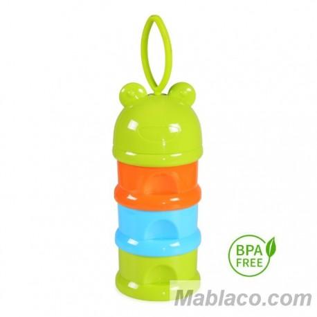 Dosificador leche en polvo bebé Ranita Opaco Verde