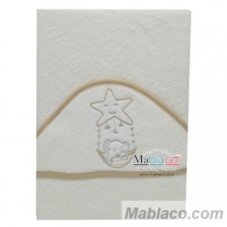 Capa de Baño Elefante Estrella Beig