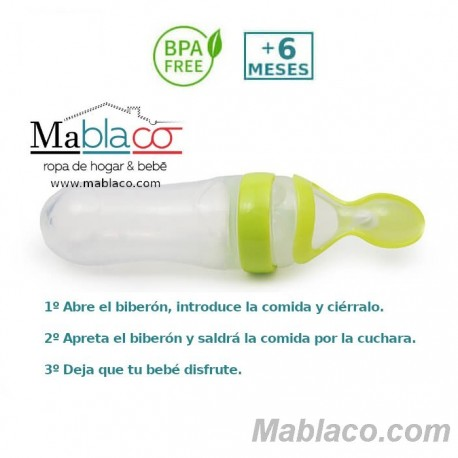 Biberón con Cuchara de Alimentación Silicona TC5025