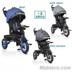 Triciclo con capota Tornado 3 a 6 años