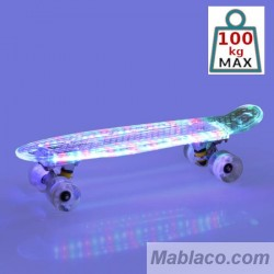 "Skateboard 23"" con luz LED Crystal"