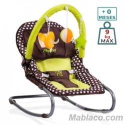 Hamaca Balancín Bebé Manny marrón