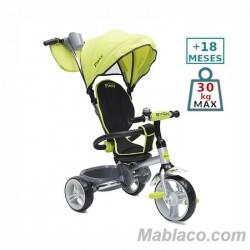 Triciclo con capota Flexy Lux Verde +18 m
