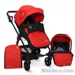 Carrito de bebé Trío Convertible Hammer 3 en 1 Rojo