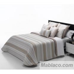 Edredón Comforter Rayas Piedra Reversible
