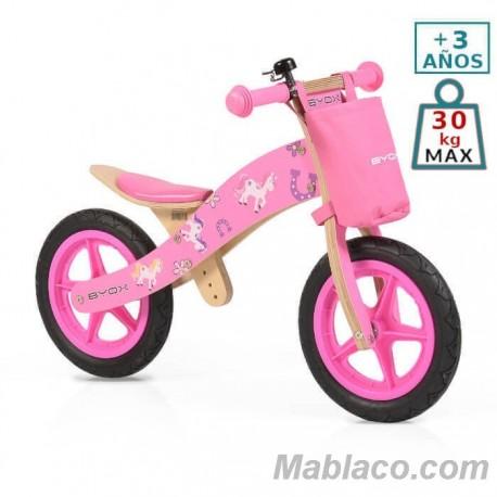 Bicicleta de madera sin pedales Woody Unicornio