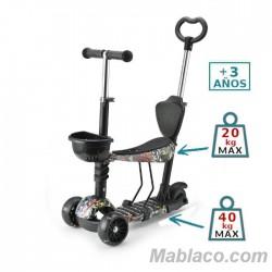 Triciclo Patinete Infantil Pixy con Luz en las ruedas