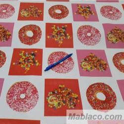 Mantel Hule Resinado Donuts Por Metros