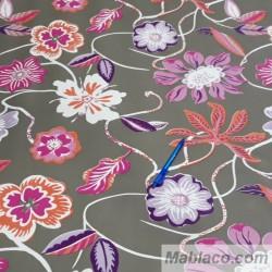 Mantel Hule Resinado Flores Por Metros