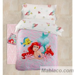 Funda Nórdica Princesas Ariel 100% Algodón Digital Reversible