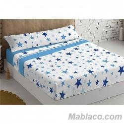 Juego de Sábanas Coralina Estrellas Houston Azul