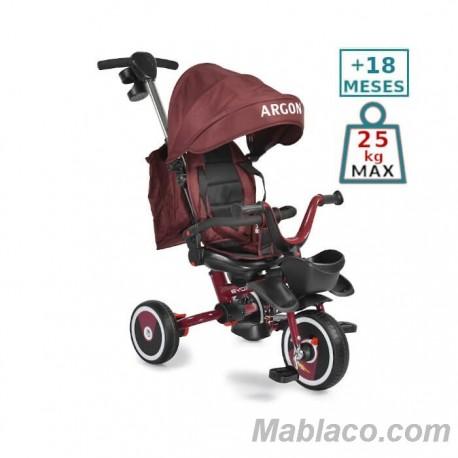 Triciclo Evolutivo con capota Argon +18 m Rojo