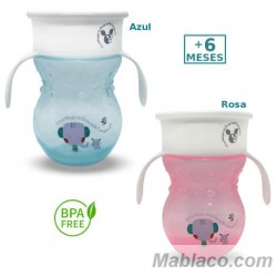 Vaso Aprendizaje Antigoteo con asas 360º Magic Cup