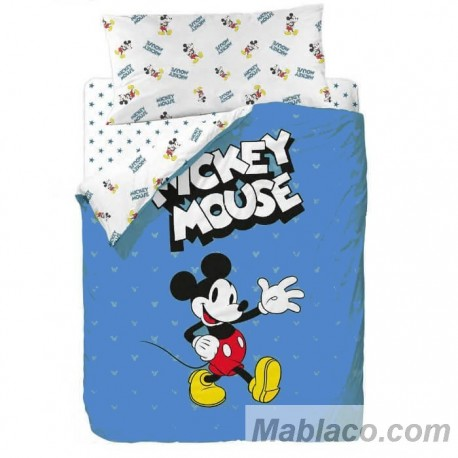 Juego Funda Nórdica Mickey Mouse Blue