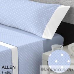 Juego de Sábanas Allen 100% Algodón Azul