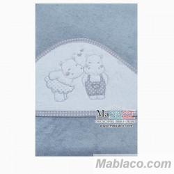 Capa de Baño Hipopotamos Gris