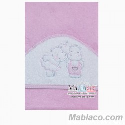 Capa de Baño Hipopotamos Rosa