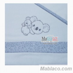 Juego Sábanas Bebé Koala Azul 100% Algodón