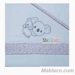 Juego Sábanas Bebé Koala Rosa 100% Algodón