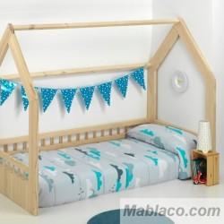 Edredón Ajustable Infantiles Nubes Azul 100% algodón