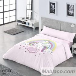 Juego Funda Nórdica Infantil Reversible Unicornio Pretty