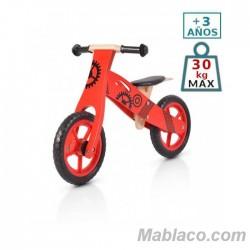 Bicicleta de madera sin pedales Wooden Rojo
