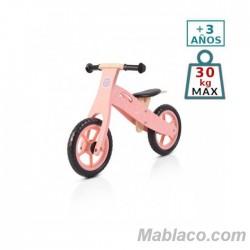 Bicicleta de madera sin pedales Wooden Rosa