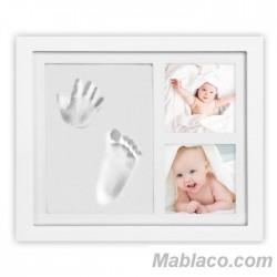 Marco de fotos con 2 huellas bebé n1 Interbaby