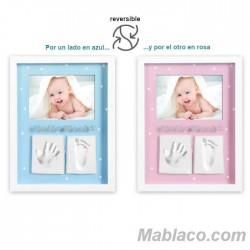 Marco de fotos con 2 huellas Azul/Rosa n2 Interbaby