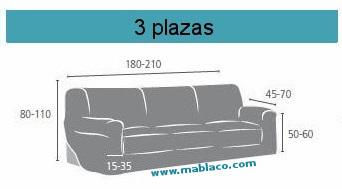 Fundas de sofa elasticas mariposas graffiti - Medidas sofa 3 plazas ...