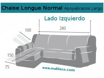 Cubre sof chaise longue dual quilt - Chaise longue medidas ...